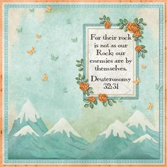 For their rock is not as our Rock; our enemies are by themselves. Deuteronomy 32:31  kit: The Great Outdoors - Hike & Bike Add On by Kristmess Designs