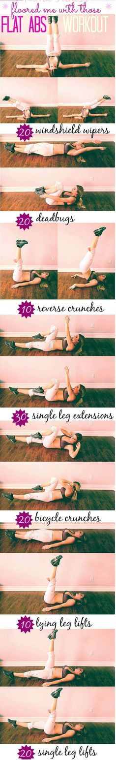 The 6 Best Exercises For a Flat Belly. Sculpt your abs and blast away the belly flab that covers them with these moves.