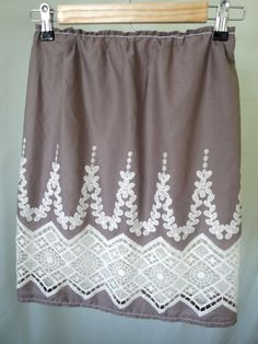add lace to my purple skirt :)