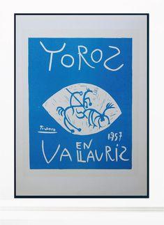 (1) Pablo Picasso Vintage Print - Original Lithograph 1959 – Art & Vintage Store Ltd