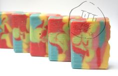 COLD PROCESS Soap  banana, blueberry, raspberry,lime, cherry