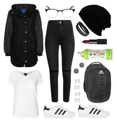 """""""Remember The Name"""" by rqueen25 ❤ liked on Polyvore featuring adidas Originals, H&M, Ray-Ban, Topshop, Demitasse, Swarovski, adidas, NARS Cosmetics and Maison Margiela"""
