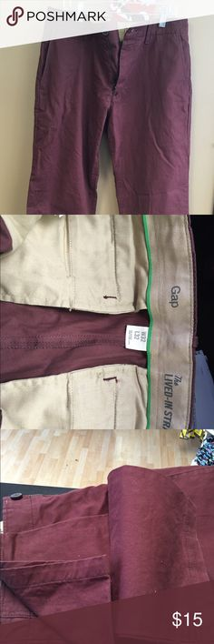 Mens Gap Burgundy pant Gap lived in straight for khakis. Burgundy. Gently worn, no stains or rips. 32x32 GAP Pants Chinos & Khakis