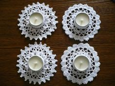 Crochet tealight