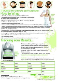This is How we Wrap! 4 in a Box of Ultimate Body Applicators for $59 Loyal Customer  www.tammysapp.myitworks.com Distributor ID# 9256110
