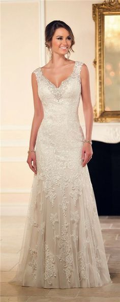Essense of Australia Stella York Wedding Dresses Fall 2015 #2015weddingdresses