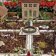 There is no rule that a miniature landscape must have a fairy in it, and many gardeners prefer to create vistas that are smaller versions of real, life-size landscapes.