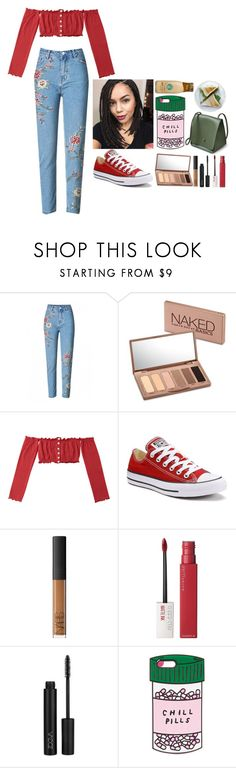 """""""""""You know you're my shawty, shawty I need you to make me happy""""💌❣️"""" by lowkey-fashion ❤ liked on Polyvore featuring Urban Decay, Converse, NARS Cosmetics, Maybelline and ban.do"""