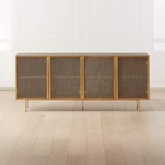 Trace Brass Wire Mesh Cabinet Credenza + Reviews | CB2 Media Furniture, Selling Furniture, Home Furniture, Modern Furniture, Modern Home Bar, Modern Tv, White Credenza, Sideboard, White Storage Cabinets