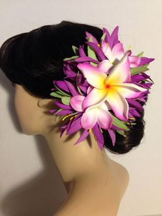 PLUMERIA GLORY-TropicalHawaiianHair by HawaiianHairlooms on Etsy