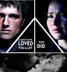 FEELINGS. And can I just say that is a fantastic edit. Like peeta looks confused and mad. And katniss is sitting there a mess cuz she thinks she has lost peeta forever.