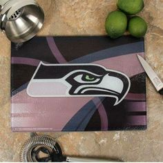 Make sure your kitchen is setup right with this Seahawks Carbon Fiber Cutting Board! You can find the link to these on the facebook post it is pinned from! Seahawks Game Day, Seahawks Gear, Seahawks Fans, Seattle Football, Football Baby, Seattle Seahawks, Earl Thomas, Marshawn Lynch, Nfl Gear