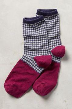 Gingham Crew Socks