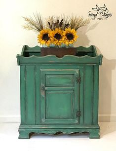 SOLD--Primitive Dry Dink Cabinet, hand painted furniture, unique furniture, farmhouse style, home decor, kitchen, entryway