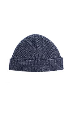 Luxe Beanie Hat in Navy