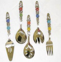 beaded serving utensils