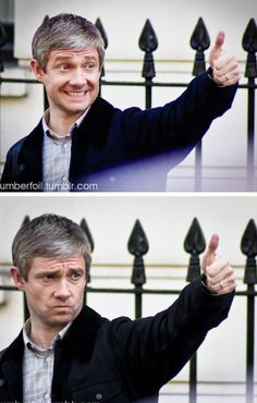 """Martin Freeman approves. First he's like """"Yeah, good on ya, mate"""" and then he's like """"f*** me, that's actually pretty good!"""""""