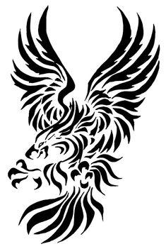 Tribal Eagle Tattoo Design Idea Tattoo Designs For Girls, Tribal Tattoo Designs, Design Tattoos, Feather Tattoo Design, Tattoo Designs And Meanings, Feather Tattoos, Tattoos With Meaning, Ours Tribal, Eagle Tattoos