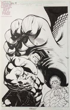 #Red #Hulk #Fan #Art. (Hulk #28 Cover (2011) By: Ed McGuinness. ÅWESOMENESS!!!™ ÅÅÅ+ (WHERE DID YOU COME FROM LITTLE GUY?)