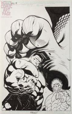 #Red #Hulk #Fan #Art. (Hulk #28 Cover (2011) By: EdMcGuinness. ÅWESOMENESS!!!™ ÅÅÅ+ (WHERE DID YOU COME FROM LITTLE GUY?)