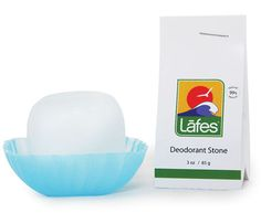 Lafes Crystal Stone Trial Travel Size Natural Deodorant with Eco-Friendly Packaging, Aluminum and Fragrance Free