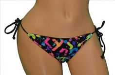 Roxy Women's Reversible String Bikini 2-in-1 Bottom-Black/multi --- http://www.pinterest.com.itshot.me/3rl