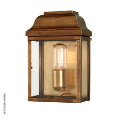 Victoria Wall Lantern Brass by Elstead @peterreidlighting #outdoorlighting