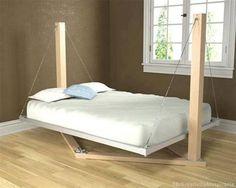 Interesting floating platform bed. - How creative!