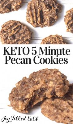 Keto Cookies, Pecan Cookies, Pecan Pies, Cookie Diet, Diabetic Cookies, Low Carb Sweets, Low Carb Desserts, Low Carb Recipes, Cheap Recipes