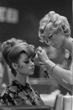 Vintage Salon, hair do's were a work of art!