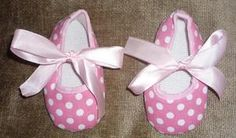 Pink Polka Dot Crib Shoes