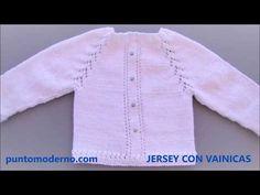 Knitting For Kids, Crochet For Kids, Baby Knitting, Crochet Baby, Fabric Stamping, Baby Coat, Baby Cardigan, Crochet Videos, Baby Sweaters