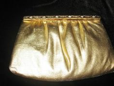 Vintage Ande' Gold Jeweled Evening Purse @ Vintage Touch $9.00