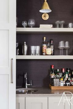 Closet Minibars Are the Reno Trend We Didn't Know We Needed #purewow #trends #renovation #decor #home #homedecor #minibar #homereno