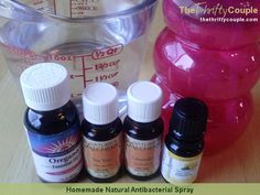 Check out this really easy and healthy homemade natural antibacterial spray to use for cleaning or even as a replacement to GermX/hand sanitizer on your hands!