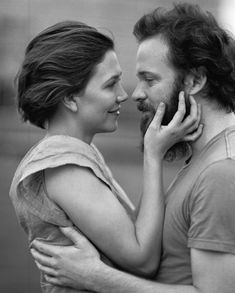 Maggie Gyllenhaal and husband Peter Saarsgard (photo by Bruce Weber for German Vogue) Maggie Gyllenhaal, Bruce Weber, Cinema, Thing 1, Famous Couples, Coppola, Beautiful Couple, Beautiful Beautiful, Celebrity Couples