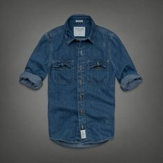 Mens Moody Pond Denim Shirt | Mens Shirts | Abercrombie.com