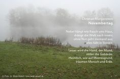 Christian Morgenstern, Authors, November, Writing, Lyric Poetry, Mists, Poetry, Quotes, Photo Illustration