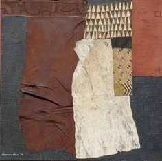 Hannes Harr, mixed media collage made from African textiles