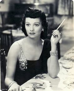 Lucille Ball with Black hair. classic pic