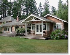 "A Joyful Cottage: All American Cottage Tour This façade would be a great way to update a ""ranch style"" home!"