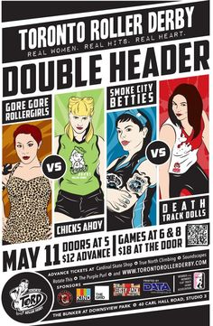 Awesome poster for Toronto Roller Derby's next home doubleheader.