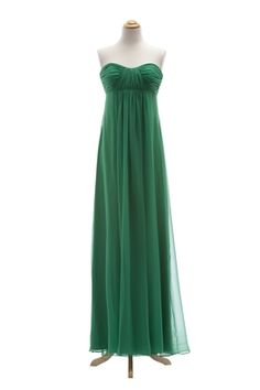 Sweetheart Chiffon Dress with Empire Waist by Dessy Collection