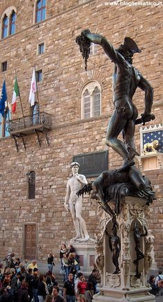 Perseus with the Head of Medusa and a copy of David. ~ Piazza della Signoria ♦ Firenze, Italy- -ITALIA by Francesco -Welcome and enjoy- frbrun Siena Toscana, Places To Travel, Places To See, Places Around The World, Around The Worlds, Rome Florence, Living In Italy, Dream Vacations, Italy Travel