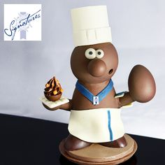 What would Easter be without a Chocolate Easter delight? Our Chefs have prepared a very special surprise this year, one that you can present as the prize of the Easter hunt: an exquisite Chocolate Easter Chef! It is made of an exquisite combination of high quality Cacao Barry white, dark and milk chocolate (250 gr): 65% milk equatorial lactee 38% 15% with chocolate mi-amere 58% 15% with white chocolate zephyr 34% 5% with gianduja milk chocolate Orders are open till March 30 Easter Chocolate, White Chocolate, Smoked Salmon Appetizer, Le Cordon Bleu, Easter Hunt, Course Meal, Dinner For Two, Executive Chef, Easter Recipes