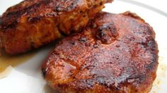 Cajun Pork Chops Recipe - Fast and very flavorful, no crazy ingredients, I pretty much had everything Best Baked Pork Chops, Best Pork Chop Recipe, Pork Chop Recipes, Roast Recipes, Sausage Recipes, Boneless Pork Chops, Dry Rub Pork Chops, Pork Loin, Pork Roast