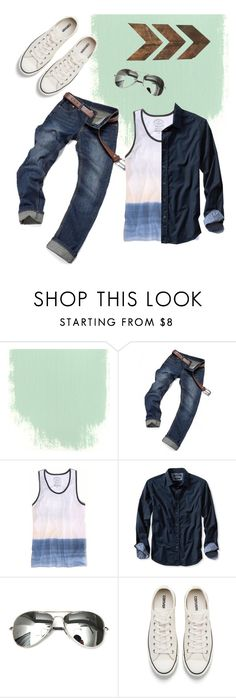"""""""My kinda guy style"""" by achippy ❤ liked on Polyvore featuring American Eagle Outfitters, Banana Republic, Converse, men's fashion and menswear"""