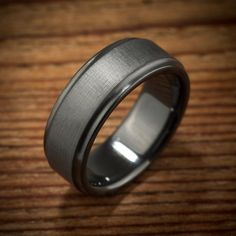 Made to order, please check current production times here: http://www.etsy.com/shop/spexton/policy    Our signature Brushed Koenig ring in an all black