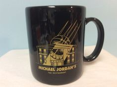 Michael Jordan Chicago Restaurant Black & Gold Coffee Cup Mug - Retired | Collectibles, Decorative Collectibles, Mugs, Cups | eBay!