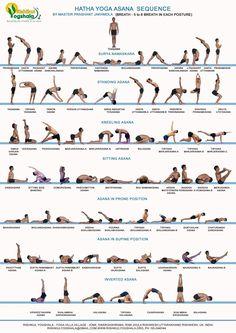 Hatha Yoga Primary Series Infographic